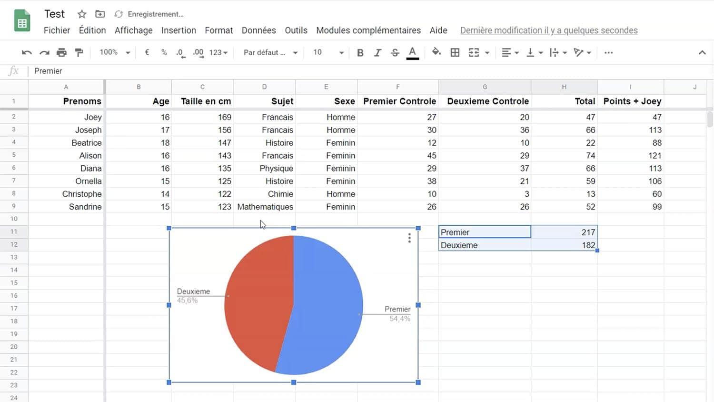 Tableur en ligne Google Sheets