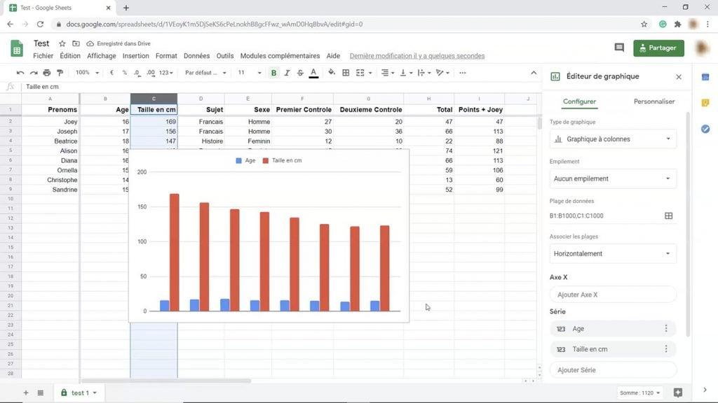 Formation Google Sheets