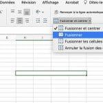 comment fusionner les cellules dans Excel