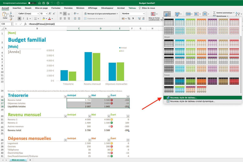 Comment faire un tableau sur Excel - Microsoft