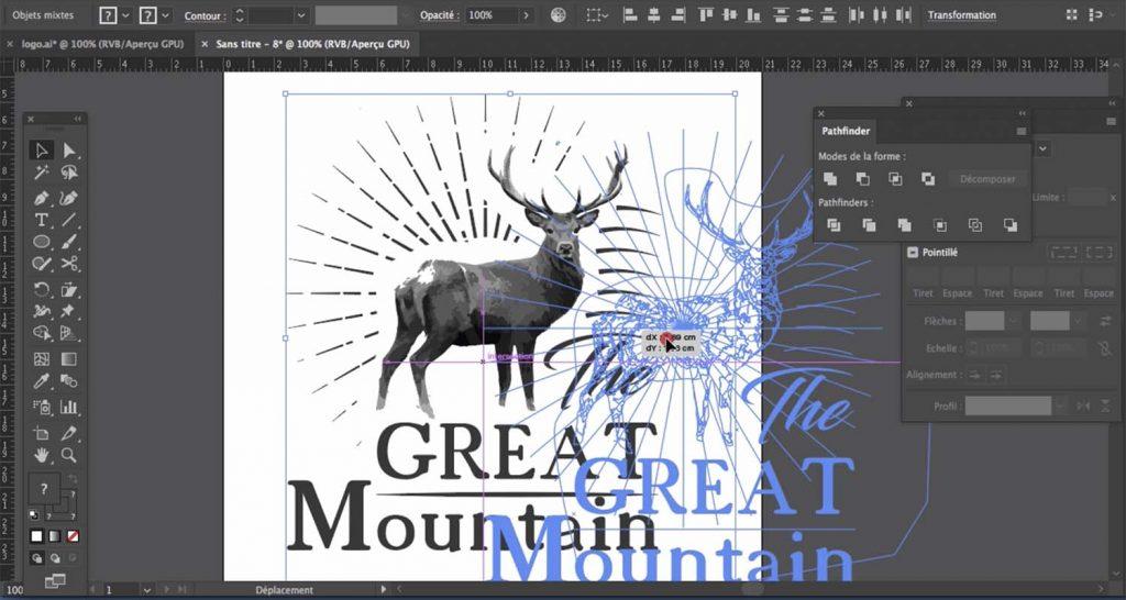 Formation Illustrator créer des logos