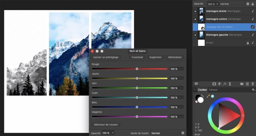 Comment changer de format de couleurs avec affinity photo tuto