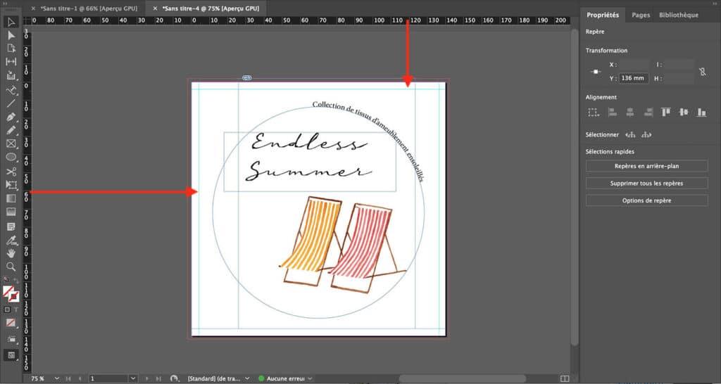 Créer un format de document circulaire sur InDesign